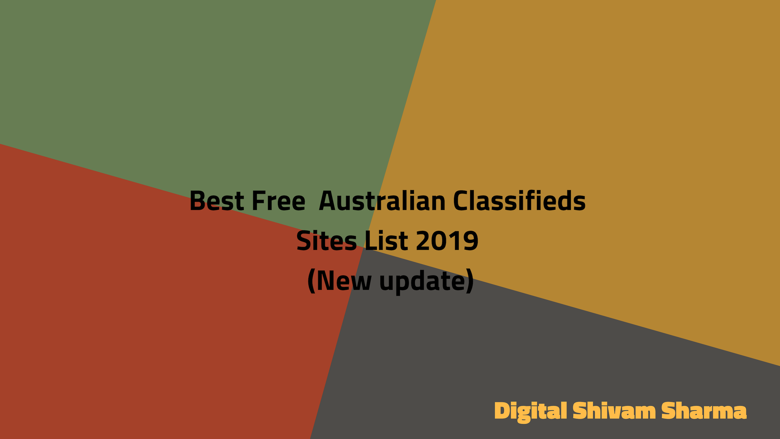 Best Top Free Australian Classifieds Sites List 2019 (New update)